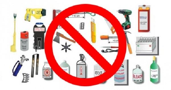 Những vật dụng bị cấm mang sang Nhật